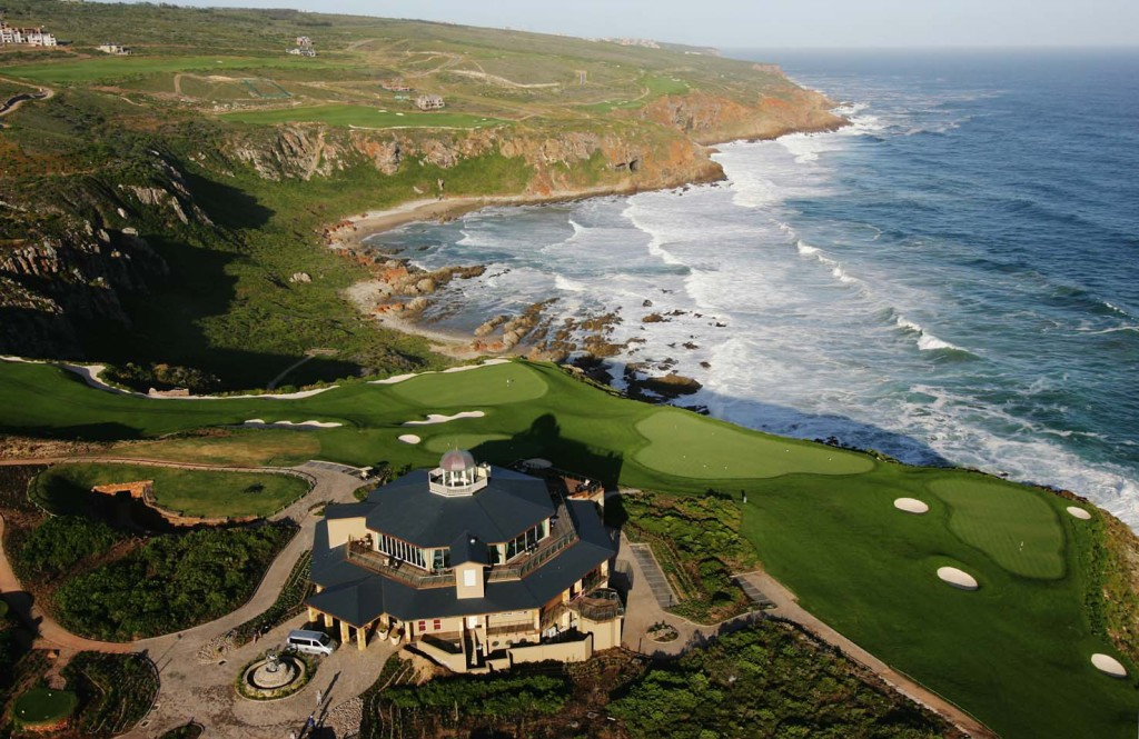 during an aerial photoshoot at the Pinnacle Point Golf Course on December 4, 2006 in Mossel Bay, South Africa.