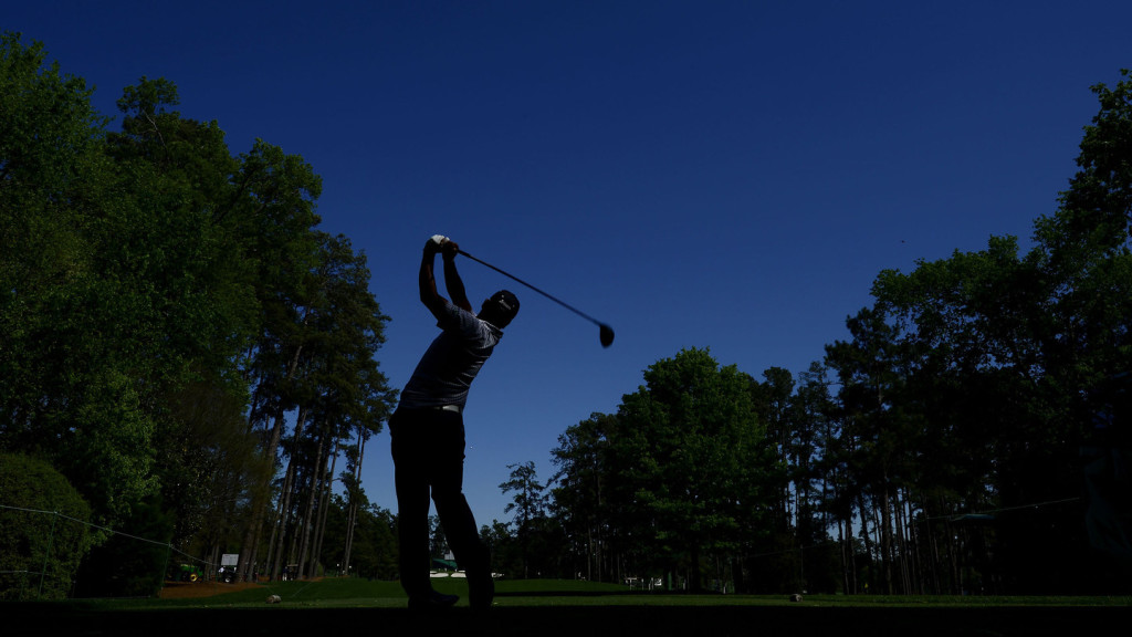 Hideki Matsuyama of Japan plays his stroke at Augusta National Golf Club on Saturday, April 2, 2016.