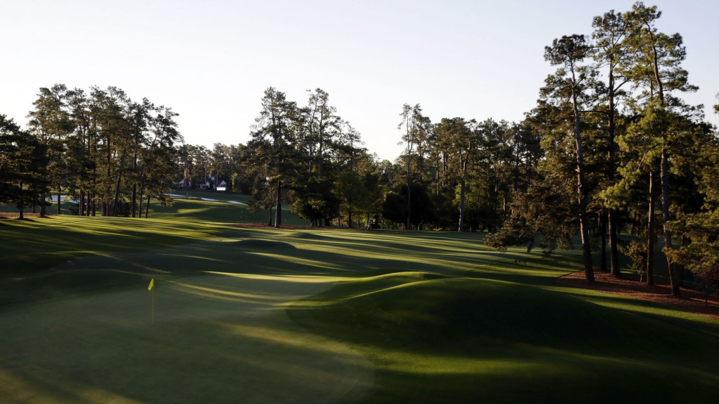 A general view of the No. 8 at Augusta National Golf Club on Sunday, April 3, 2016.