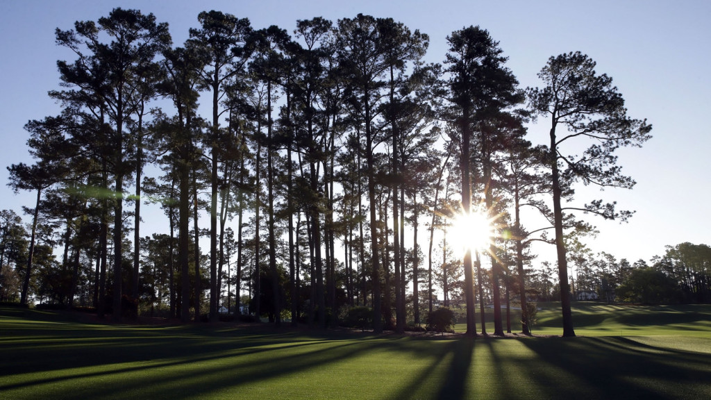 A general view of the No. 8 fairway at Augusta National Golf Club on Sunday, April 3, 2016.